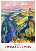 Original French Railways Travel Poster of Auvergne, France c1959